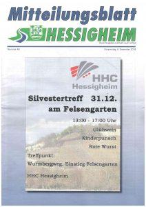 Silvestertreff @ Wurmbergweg Hessigheim